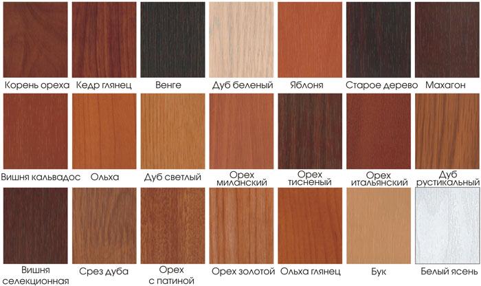 Варианты цветов для панелей МДФ