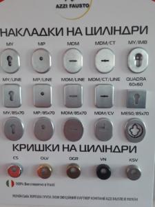 Накладки и крышки на цилиндры замка Киев